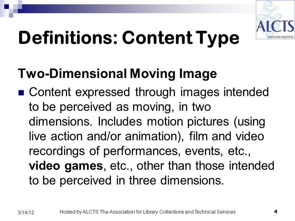 Relationship Designators (Relator Terms) Corporate Bodies OLAC RDA test group's preliminary recommendations for typical library cataloging of moving image materials: In most cases, use only: production company publisher/distributor (element-level relationships) 35 3/14/12 Hosted by ALCTS The Association for Library Collections and Technical Services