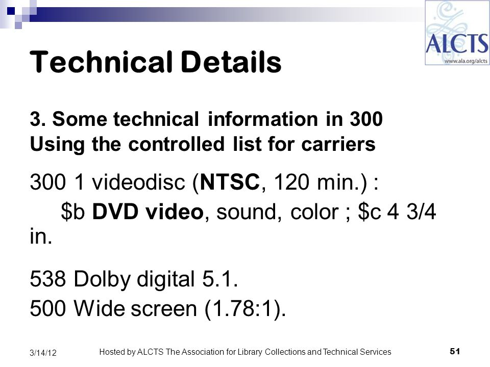 Technical Details 3.