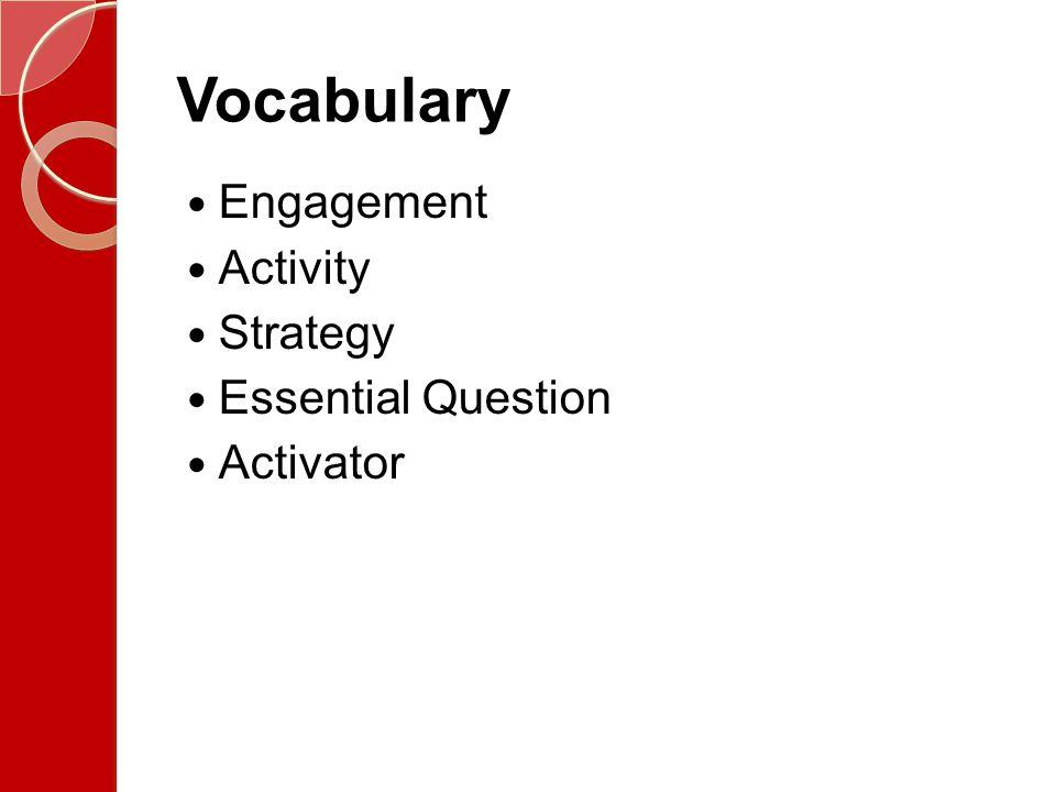Vocabulary Activities Handout – Examples of Vocabulary Activities