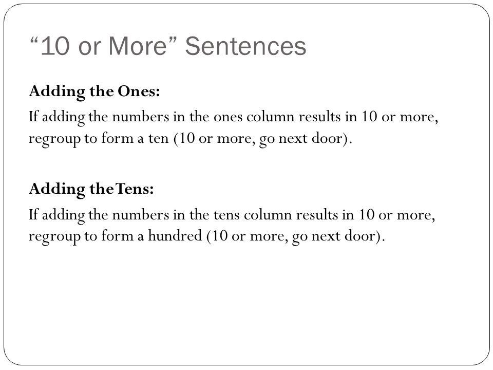 N ote ones in the ones column. 417 457 -268 9
