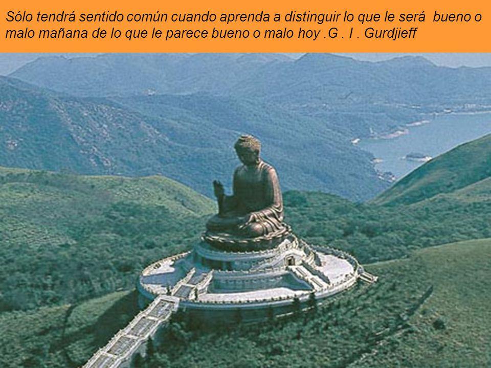 La meta más alta que puede alcanzar un hombre es : el sentido común. G. I. Gurdjieff