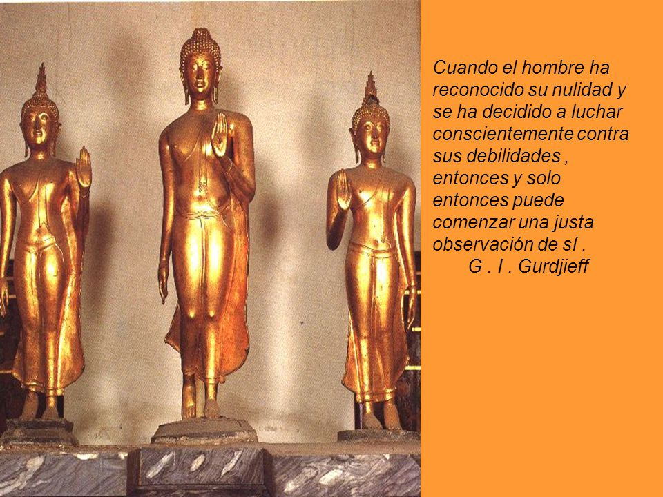El hombre que no tiene una Voluntad real, solo se manifiesta por los reflejos funcionales de su organismo. G. I. Gurdjieff