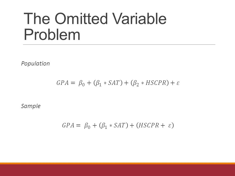 The Omitted Variable Problem