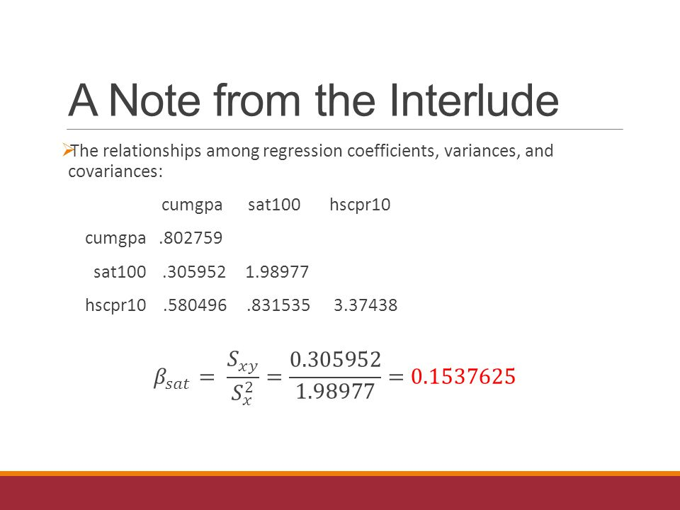 A Note from the Interlude