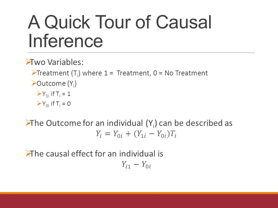 A Quick Tour of Causal Inference