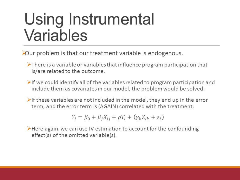 Using Instrumental Variables