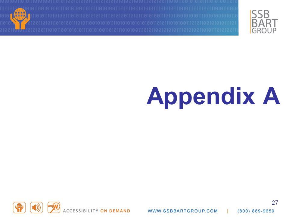 27 Appendix A