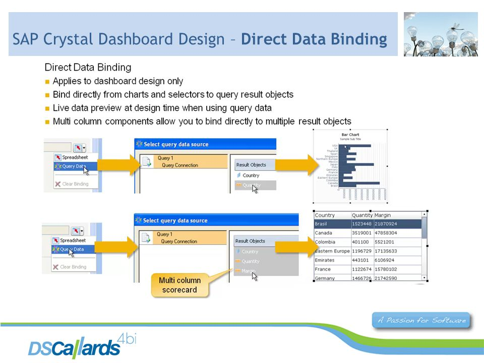 SAP Crystal Dashboard Design – Direct Data Binding