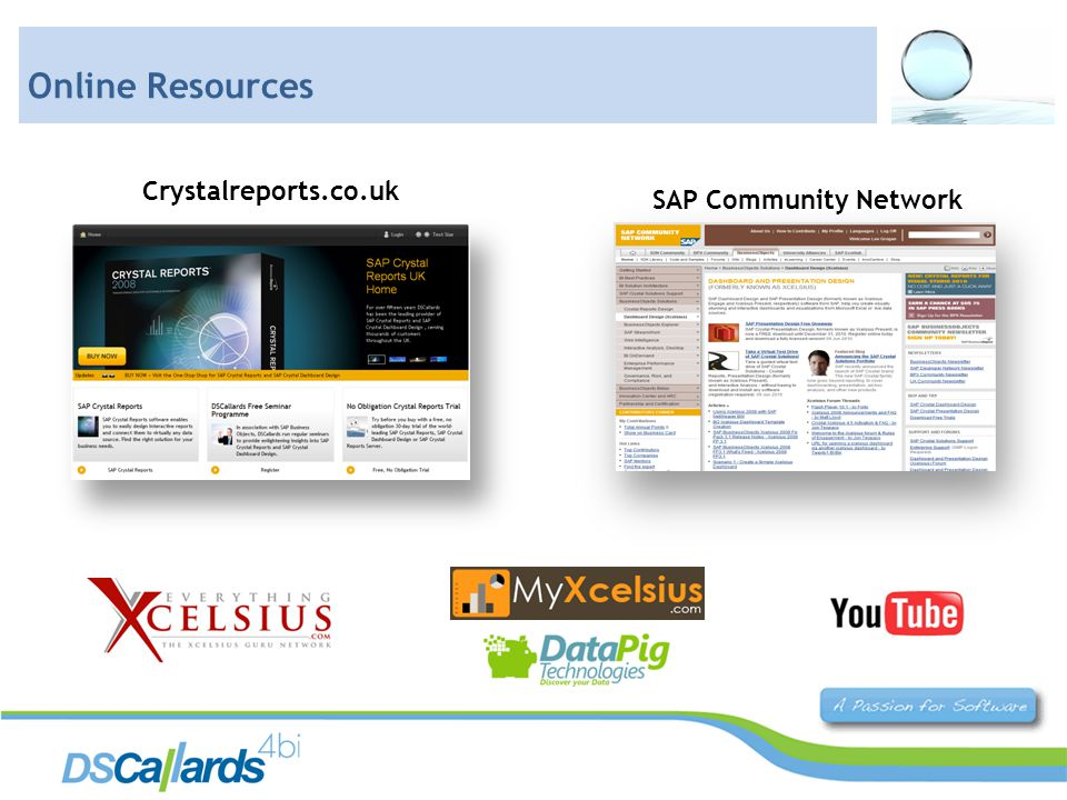 Crystalreports.co.uk SAP Community Network Online Resources