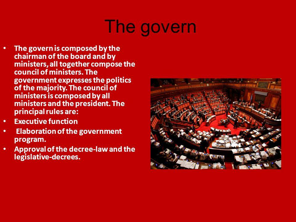 The parliament The Parliament has a legislative power.