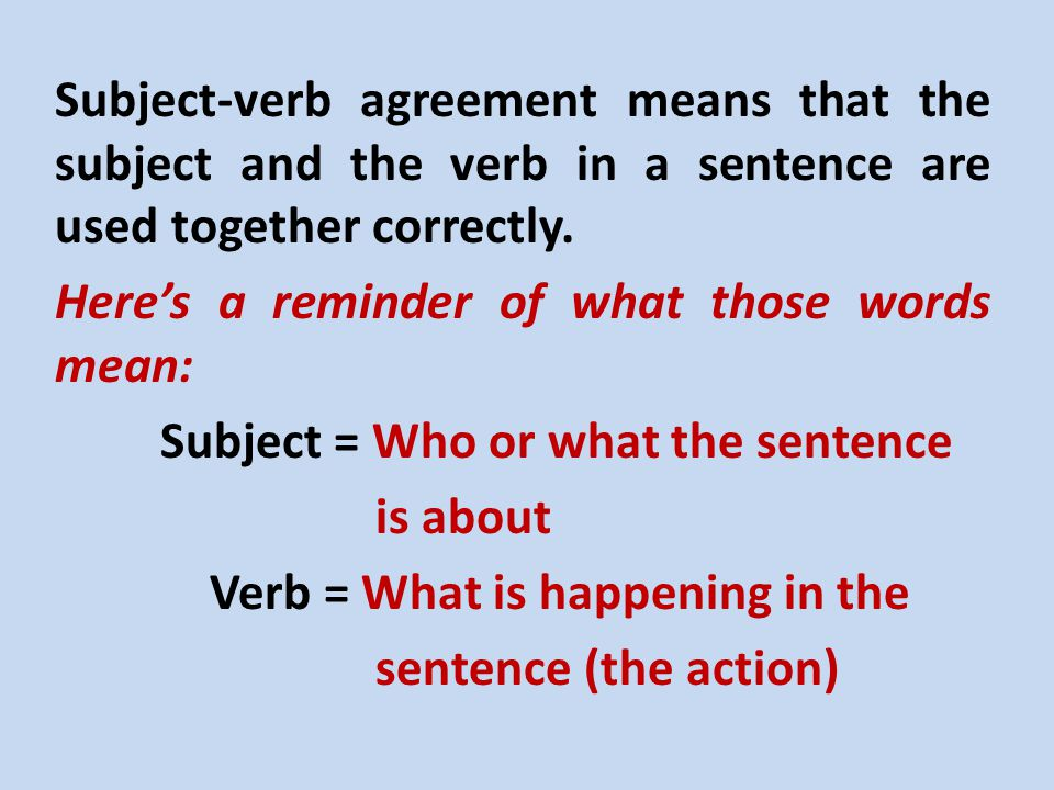 Subject Verb Agreement Helping Words Get Along Jacob M Lightbody