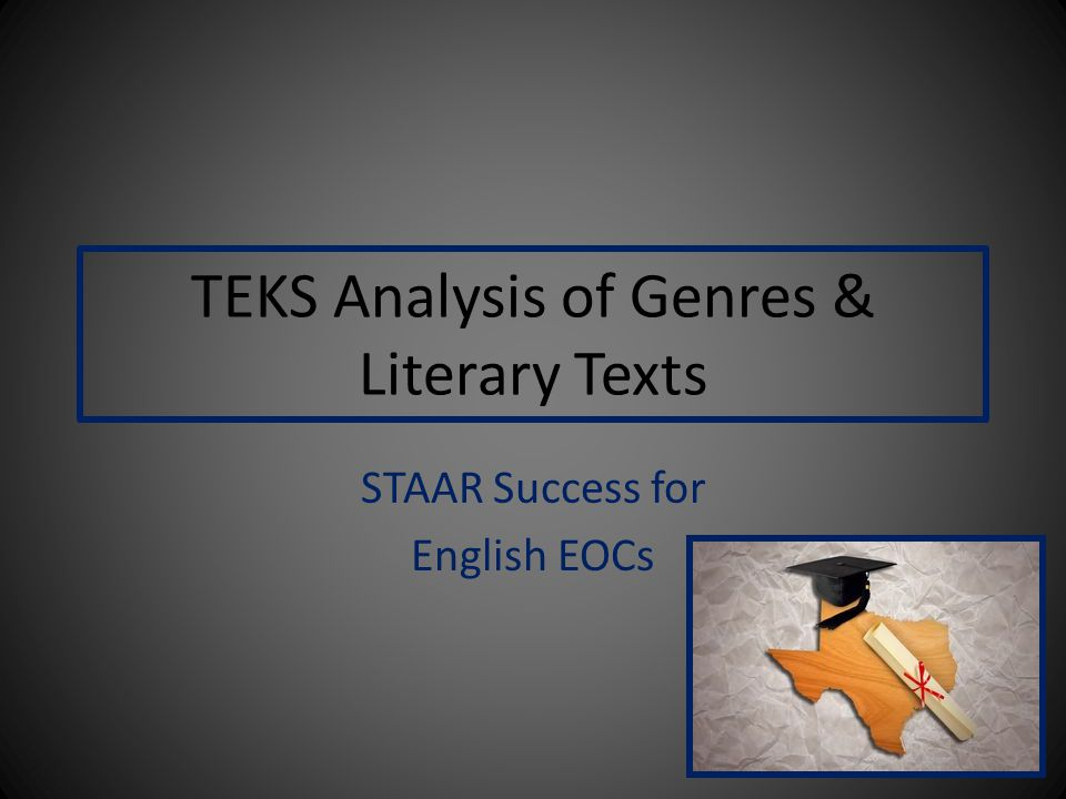 TEKS Analysis of Genres & Literary Texts STAAR Success for English EOCs