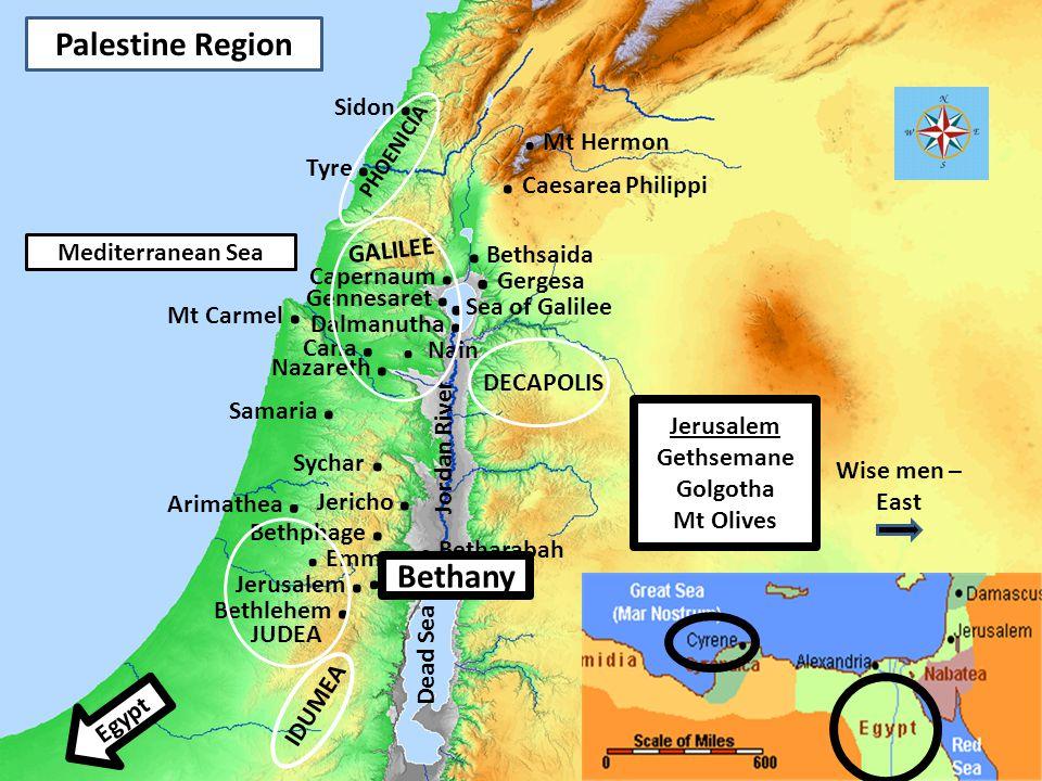 3 Palestine Region Nazareth. Mt Carmel. Bethlehem.