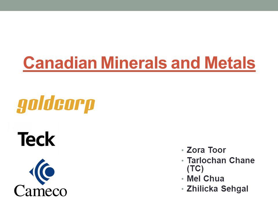 Canadian Minerals and Metals Zora Toor Tarlochan Chane (TC) Mel Chua Zhilicka Sehgal