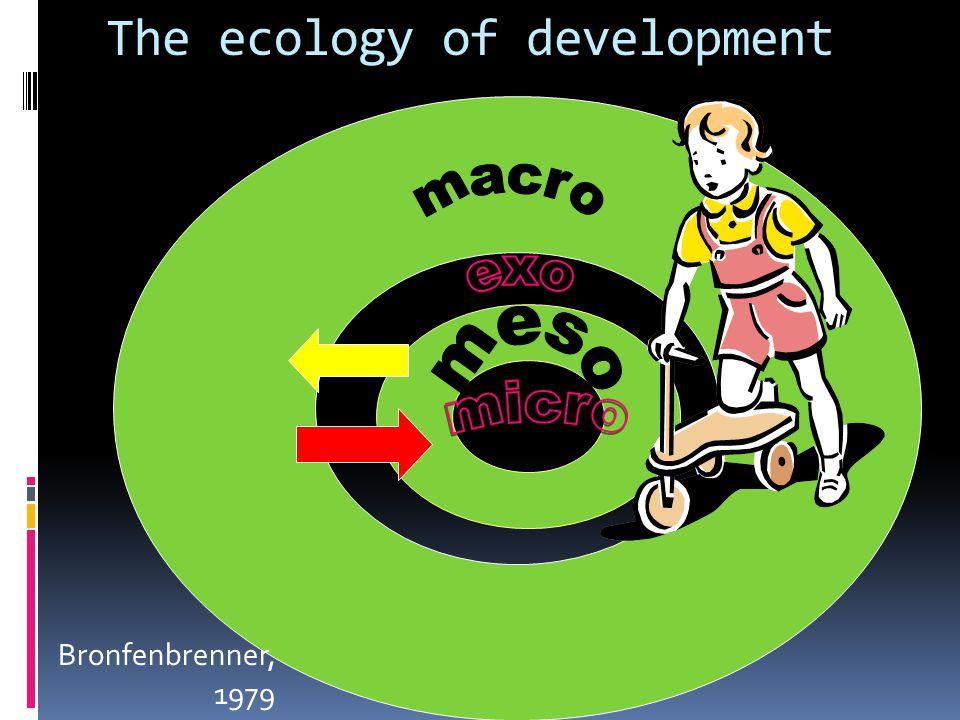 The ecology of development Bronfenbrenner, 1979