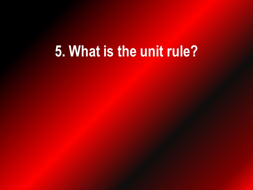 5. What is the unit rule
