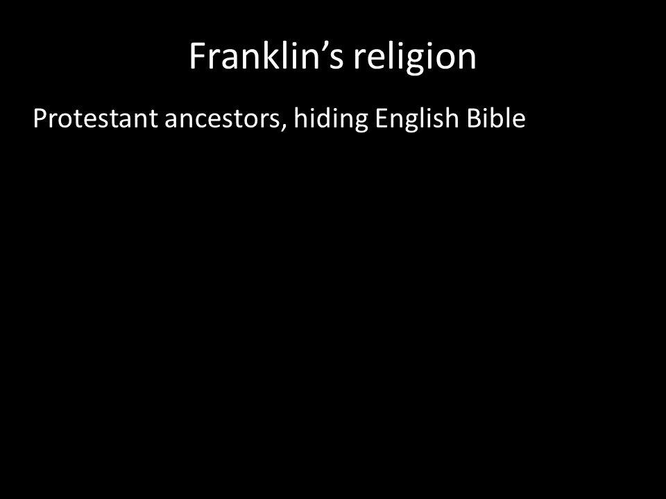 Protestant ancestors, hiding English Bible