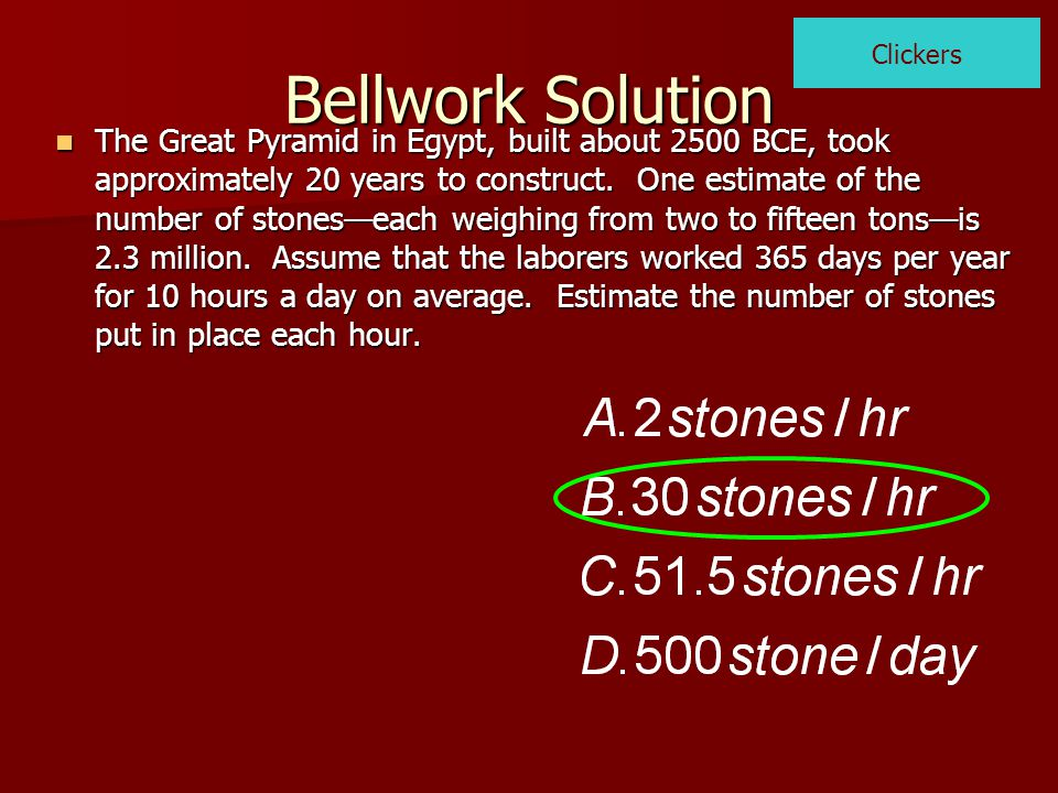 Bellwork Solution What is the value of a 2 -2ab+b 2, if (a-b)=12 What is the value of a 2 -2ab+b 2, if (a-b)=12 Clickers