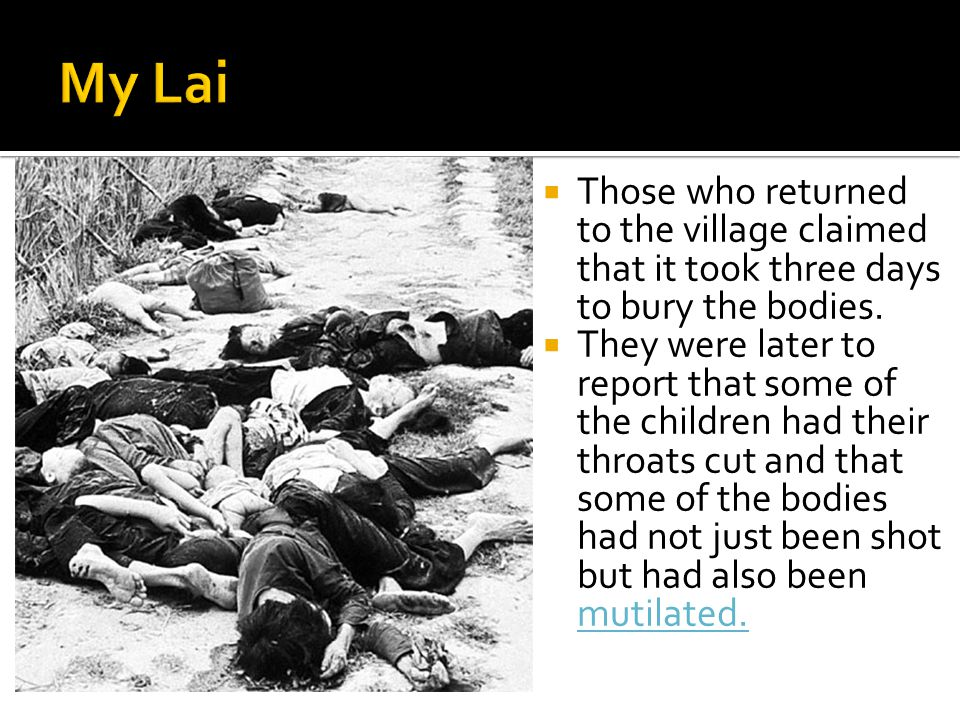  Those who returned to the village claimed that it took three days to bury the bodies.