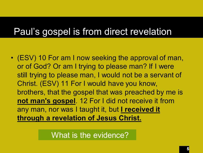 46 From whom do you seek glory?