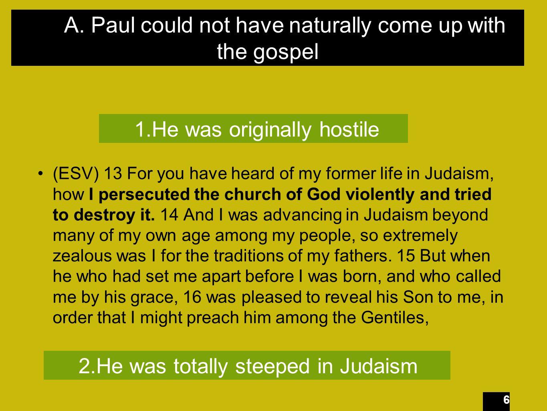 27 Paul Pharisee Theologian Taught by Gamaliel Legalist Brilliant Rhetorical mind Roman Citizen Tenacious