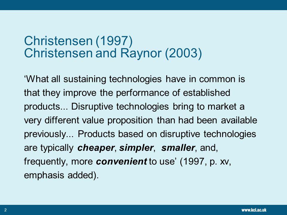 References Christensen, C.M.