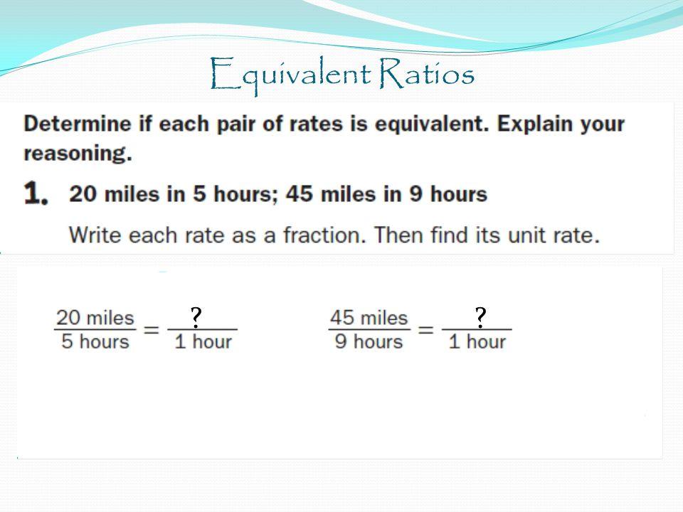 Equivalent Ratios ??