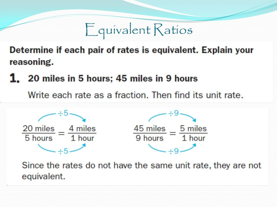 Equivalent Ratios Three out of five students in the first row made corrections on the last test.