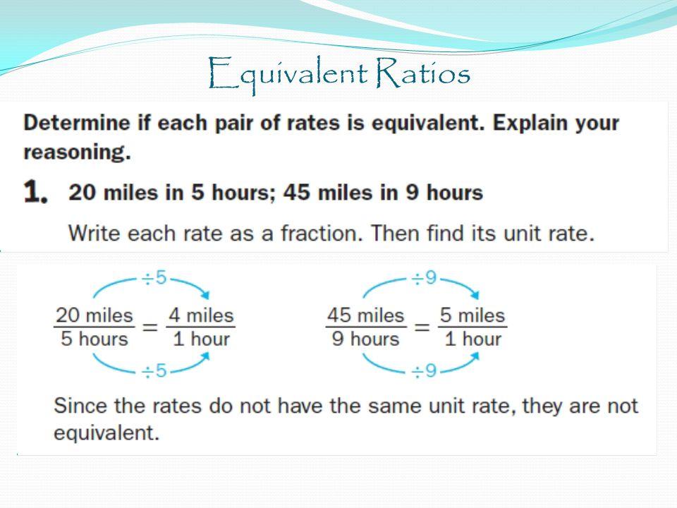 Equivalent Ratios Solve the proportion. 3 6 4 = m 3m = 24