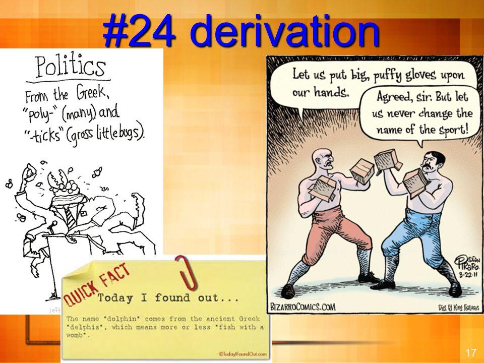 17 #24 derivation