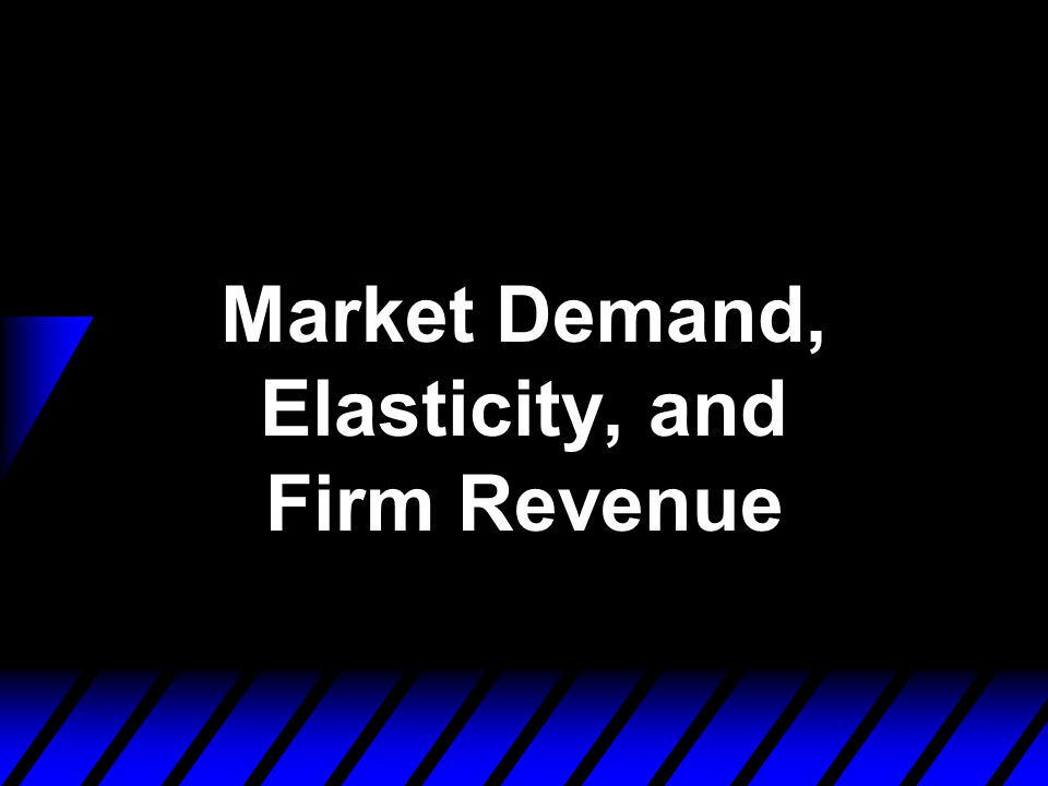 Marginal Revenue and Own-Price Elasticity of Demand says that the rate at which a seller's revenue changes with the number of units it sells depends on the sensitivity of quantity demanded to price; i.e., upon the own-price elasticity of demand.