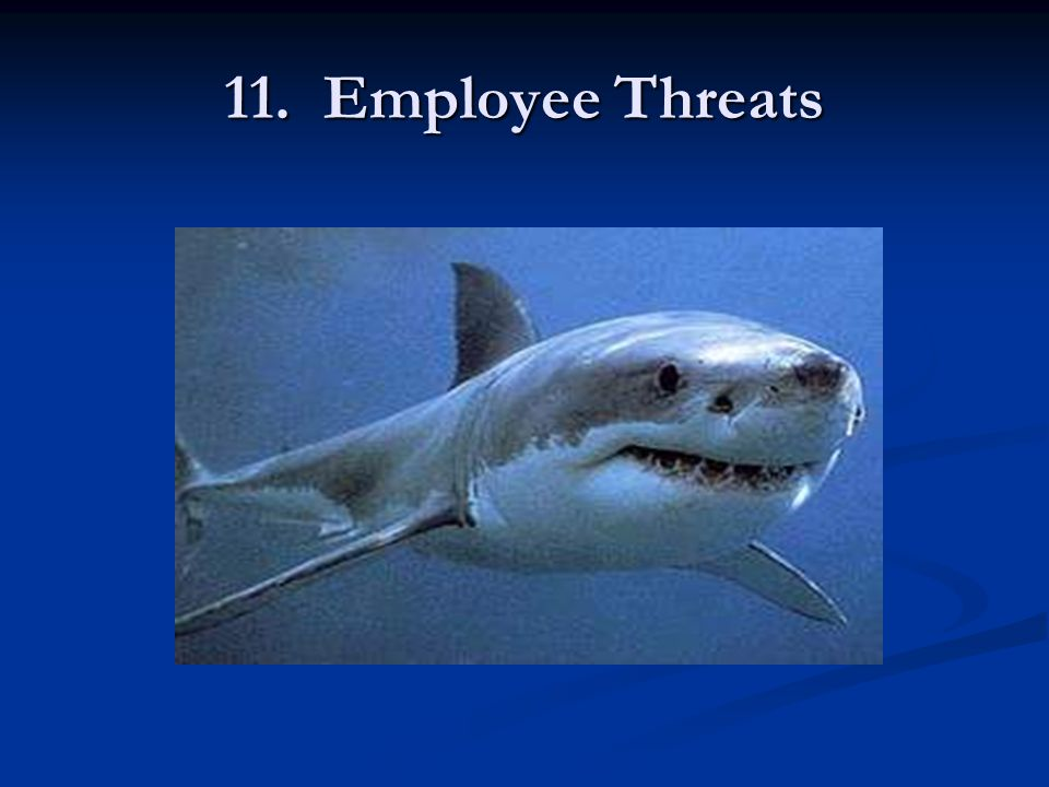 11. Employee Threats