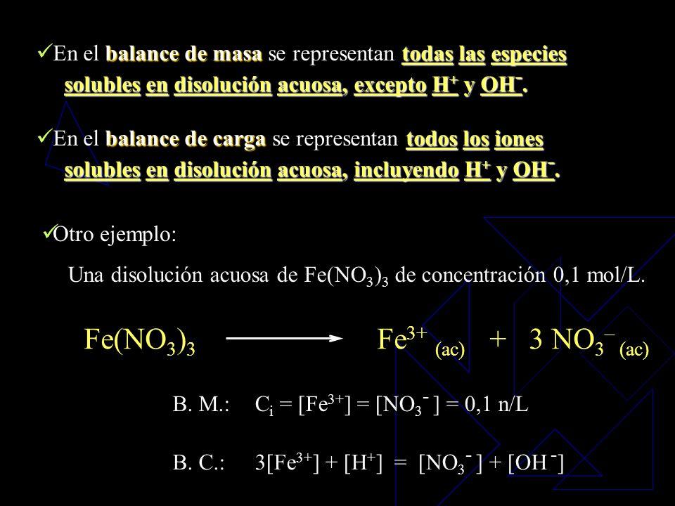 Los balances de masa y carga son expresiones matemáticas que nos ayudan a encontrar la concentración de los iones en disolución. Balances de Masa y Ca