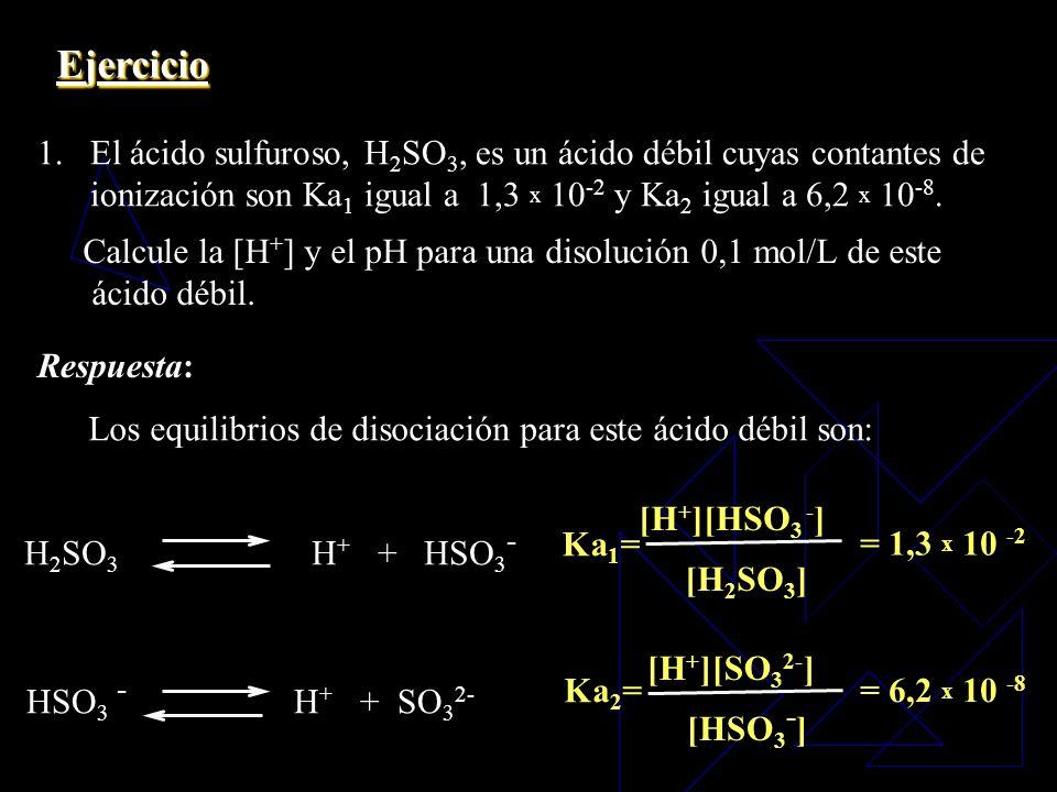 El ácido fosfórico, H 3 PO 4, es un ácido triprótico, que se disocia según las siguientes ecuaciones: H 3 PO 4 H + + H 2 PO 4 - H 2 PO 4 - H + + HPO 4