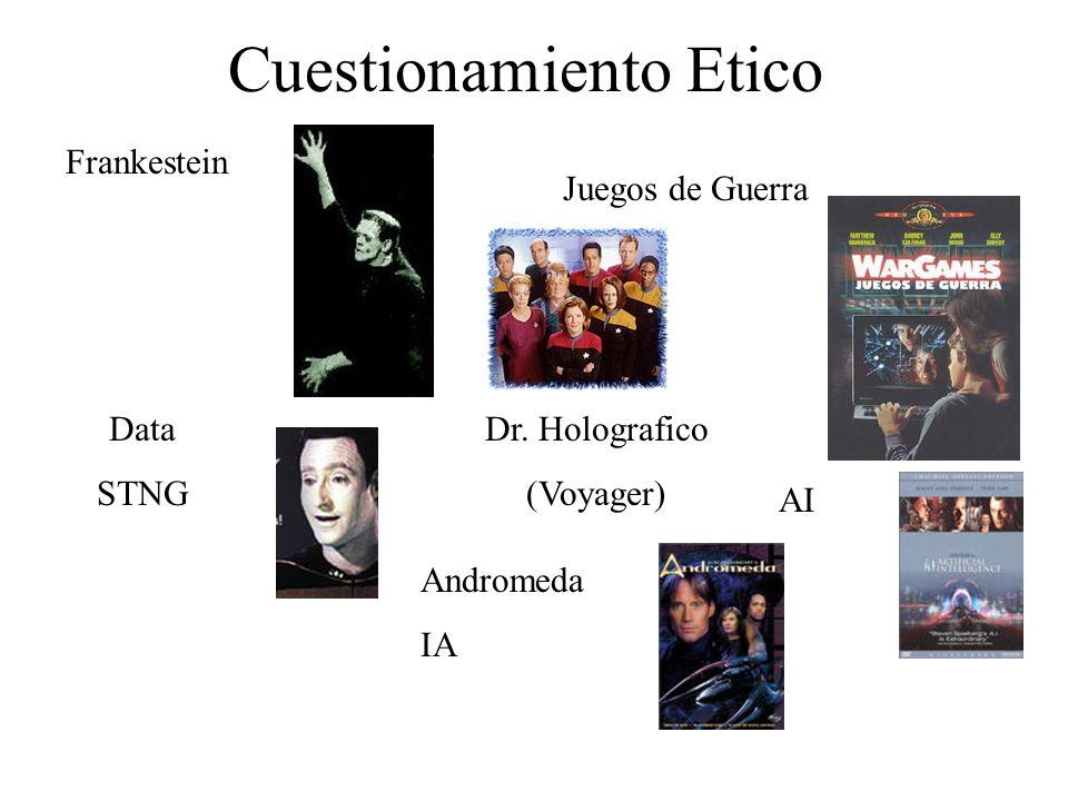 Cuestionamiento Etico Frankestein Juegos de Guerra Data STNG AI Dr.