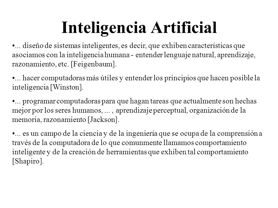 Inteligencia Artificial...