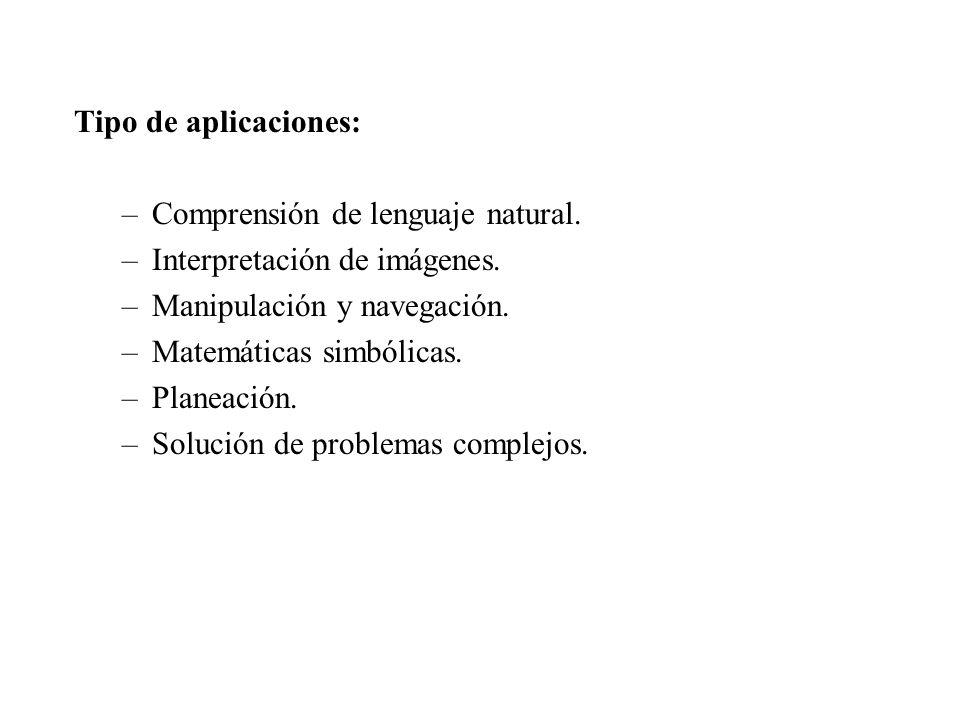 Tipo de aplicaciones: –Comprensión de lenguaje natural.