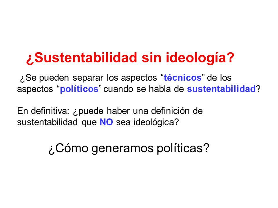 ¿Sustentabilidad sin ideología.
