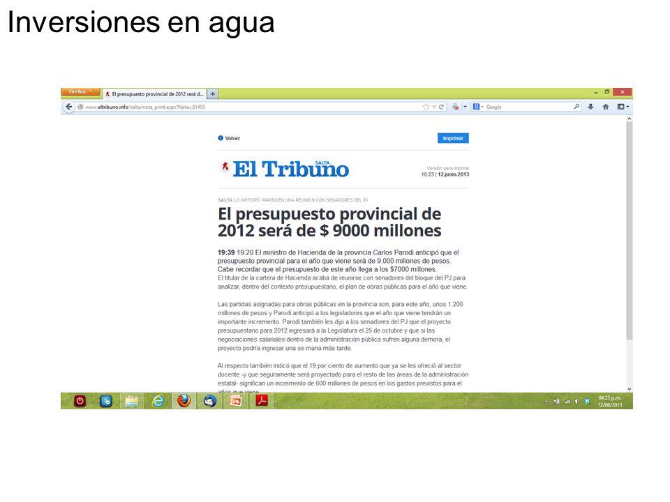 Inversiones en agua