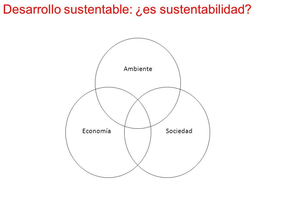 Sociedad Ambiente Economía Desarrollo sustentable: ¿es sustentabilidad