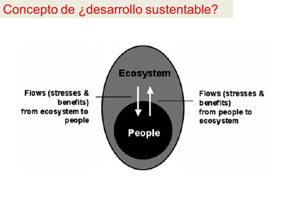 Concepto de ¿desarrollo sustentable
