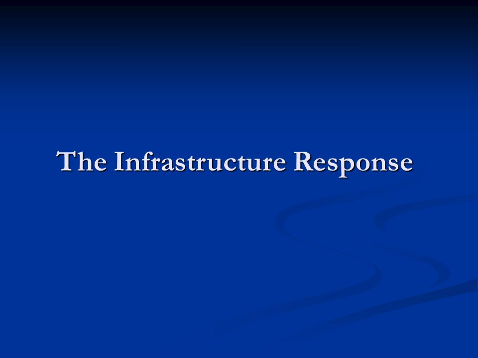 The Infrastructure Response