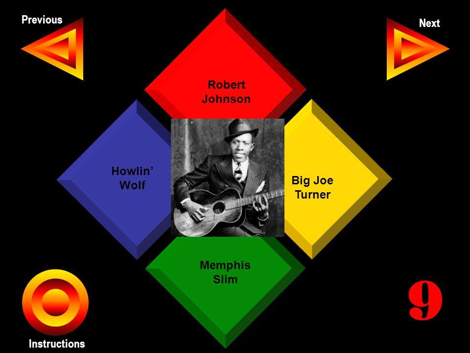 John Seth Previous Next Instructions Robert Johnson Big Joe Turner Memphis Slim Howlin' Wolf 9