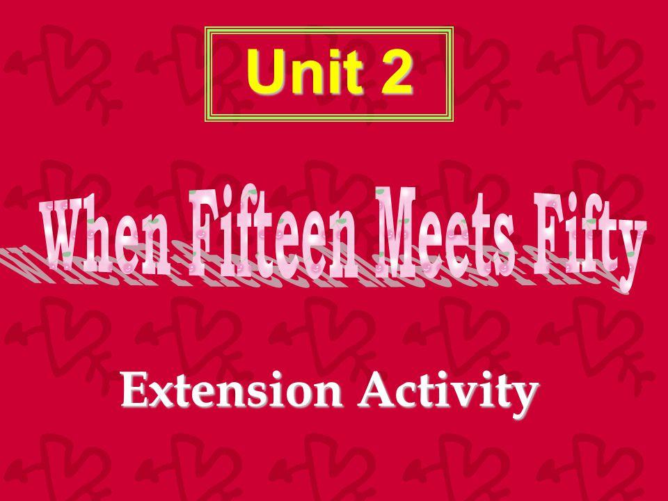 Unit 2 Extension Activity