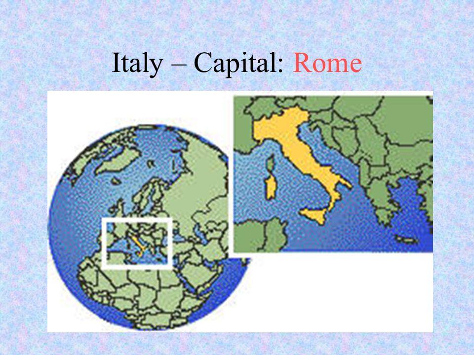 Italy – Capital: Rome