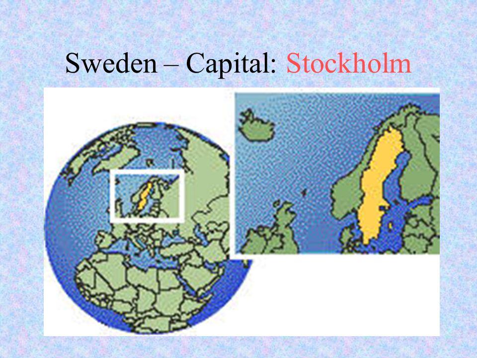 Sweden – Capital: Stockholm
