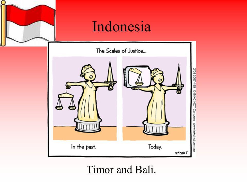 Indonesia Timor and Bali.