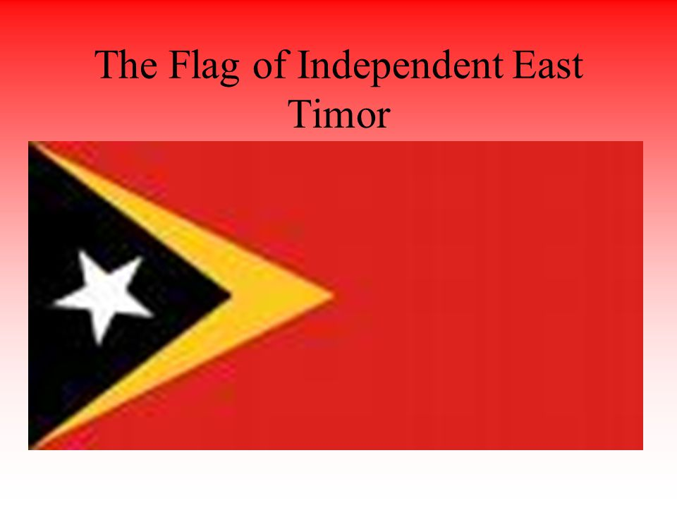 The Flag of Independent East Timor