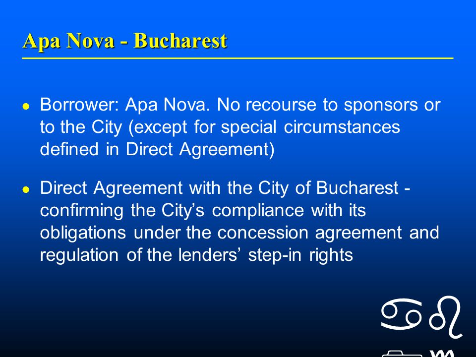    Apa Nova - Bucharest Borrower: Apa Nova.