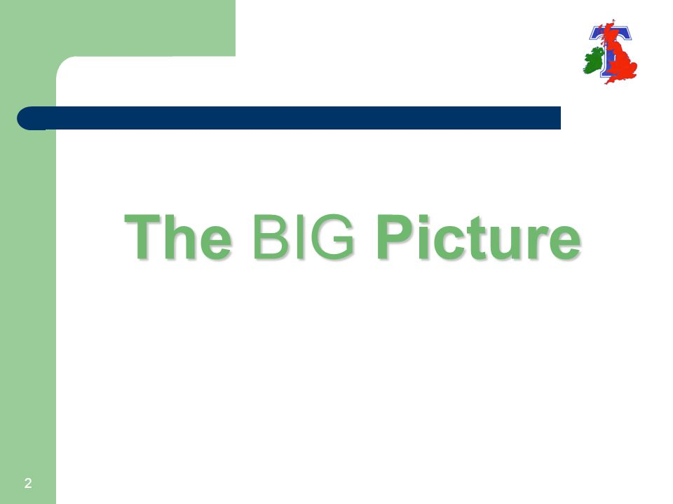 2 The BIG Picture